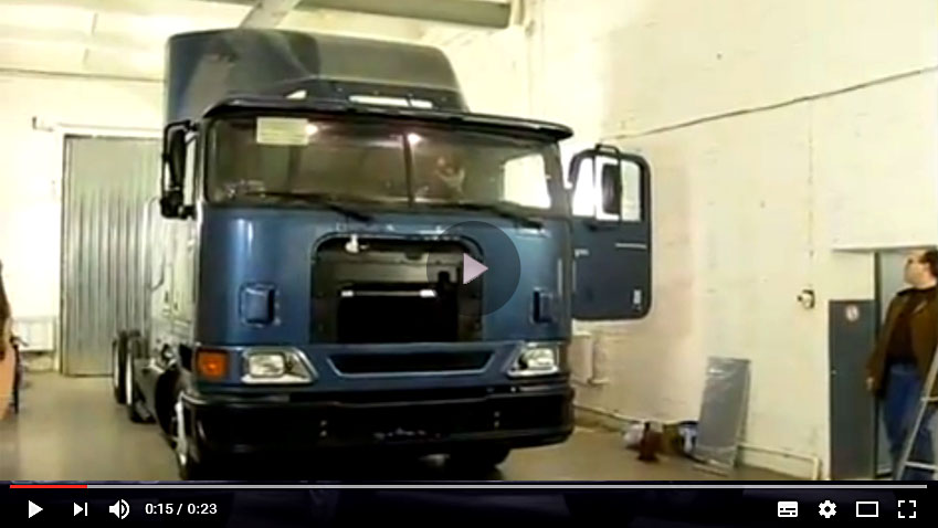 Start the first International truck built in Russia